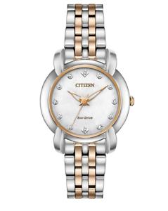Citizen-Eco-Drive-Jolie-Women-039-s-Diamond-Accents-30mm-Watch-EM0716-58A