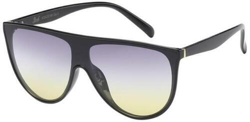 Übergroße Sonnenbrillen Designer Flache Oberseite Groß Halbrund Retro