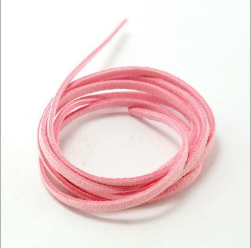 Flat Real Suede Leather Cord Lace Thong Jewellery Making String Craft 1M 3mm NP