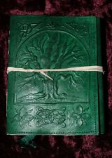 TREE OF LIFE LEATHER BOUND JOURNAL/BOOK OF SHADOWS ~ HAND MADE PAPER