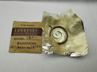 Original Longines 13zn 13.33 Chronograph Mainspring Swiss Old Stock Part