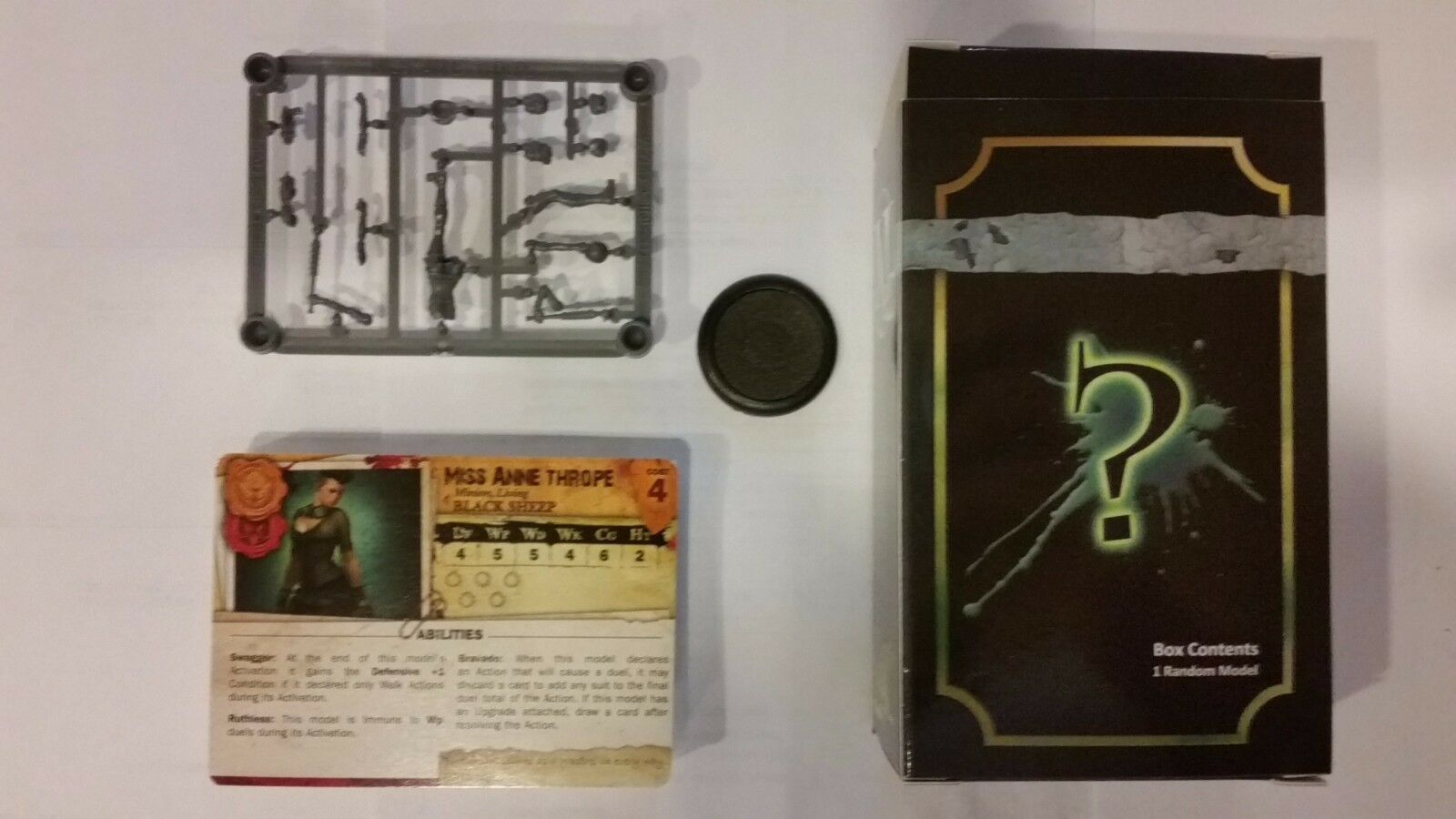 Limited Edition Malifaux Arcanists Miss Anne Thrope Wastrel Guild promo