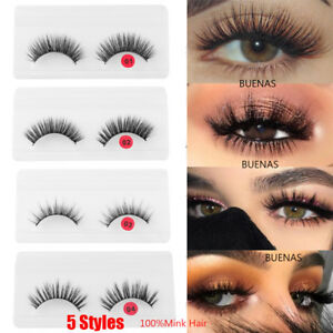 3c4d267ca92 Image is loading 2019-3D-Mink-Hair-False-Eyelashes-Handmade-Natural-