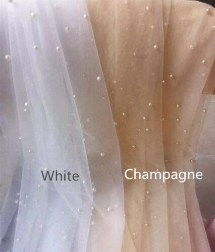 New White Ivory Champagne Two Layers Wedding Veil Pearl Short Bridal Veils+comb