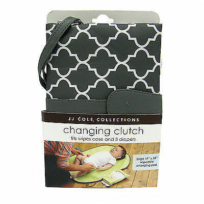 19 x 28 pad JJ Cole Changing Clutch Slim Desgin fits neatly in your diaper bag