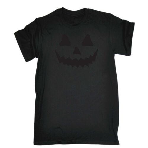 Black Pumpkin Smile Funny Novelty T-Shirt Mens tee TShirt