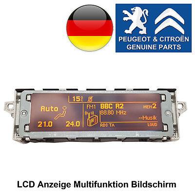 Citroen Berlingo C2 C3 Pluriel C5 C8 Jumpy LCD Anzeige Multifunktion Bildschirm