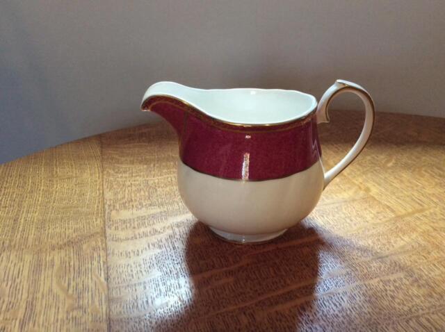 Wedgwood Crown Ruby bone china creamer circa 1991