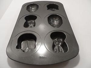 Wilton 6 Cavity Spring Easter Mini Cake Pan Molds 2