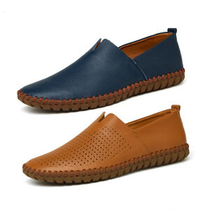 Men-Breathable-Driving-Casual-Boat-Shoes-Leather-Flats-Moccasin-Slip-On-Loafers