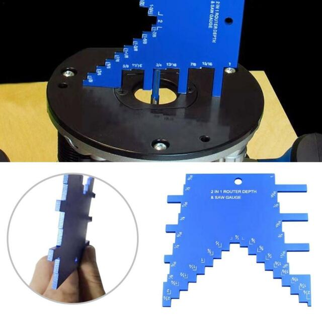 2 in 1 Step Depth Gauge for Routers and Table Saws