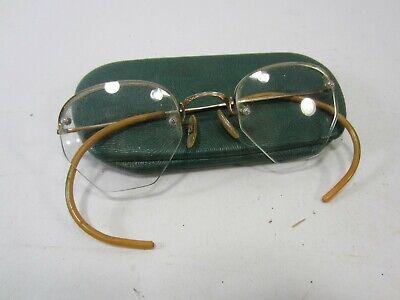 7d2802cefe90 Vintage Shuron 12K Gold Filled Glasses Frames with Case | eBay