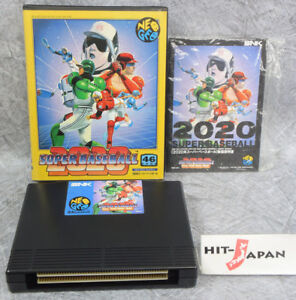 NEO-GEO-AES-2020-SUPER-BASEBALL-Neogeo-FREE-SHIPPING-SNK-Ref-1553