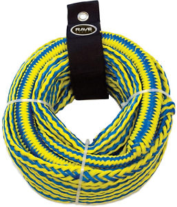 Boat Bungee Tow Rope 4 Rider 50 Ft Heavy Duty Tubing Water Rave Sport 3 8 In New