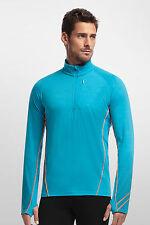 *NWT* Icebreaker Men's Drive LS Half-Zip Merino Wool Jacket in Blue - Small $140