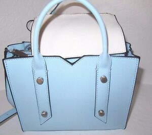 Botkier Muray Mini Tote Crossbody Bag Sky Blue Leather New NWT  178 ... ff59e221fbc37