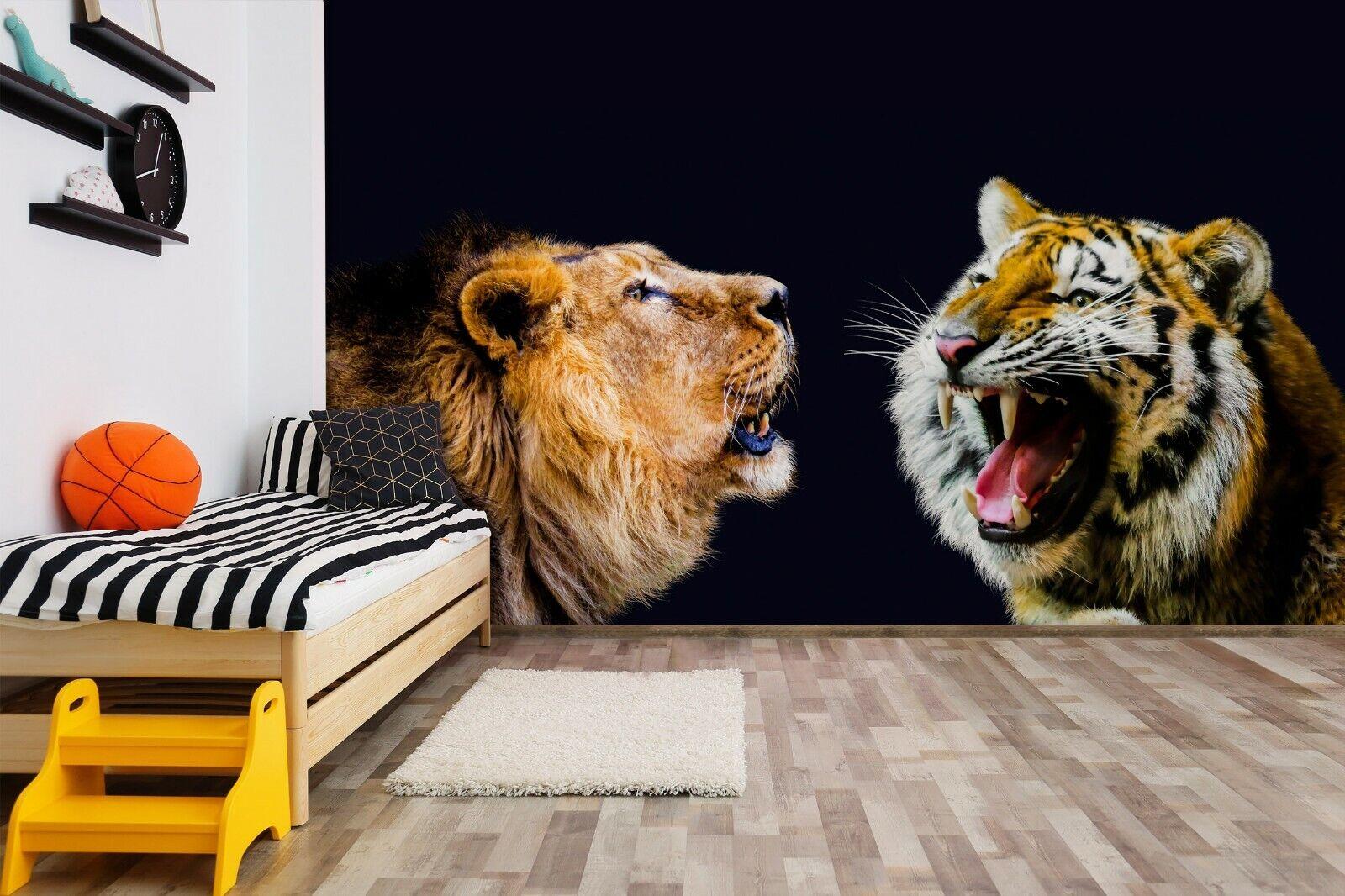 3D Wut Tiger M108 Tier Tapete Wandbild Selbstklebend Abnehmbare Angelia