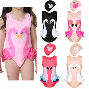 e60c4b62a728d Girls Summer One-Piece Swimsuit Kids Baby Tutu Swimwear Bathing Suit ...