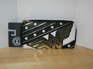 Bioworld-DC-Comics-Wonder-Woman-Envelope-Snap-Wallet-Clutch-NWT-VHTF-Gold-Logo