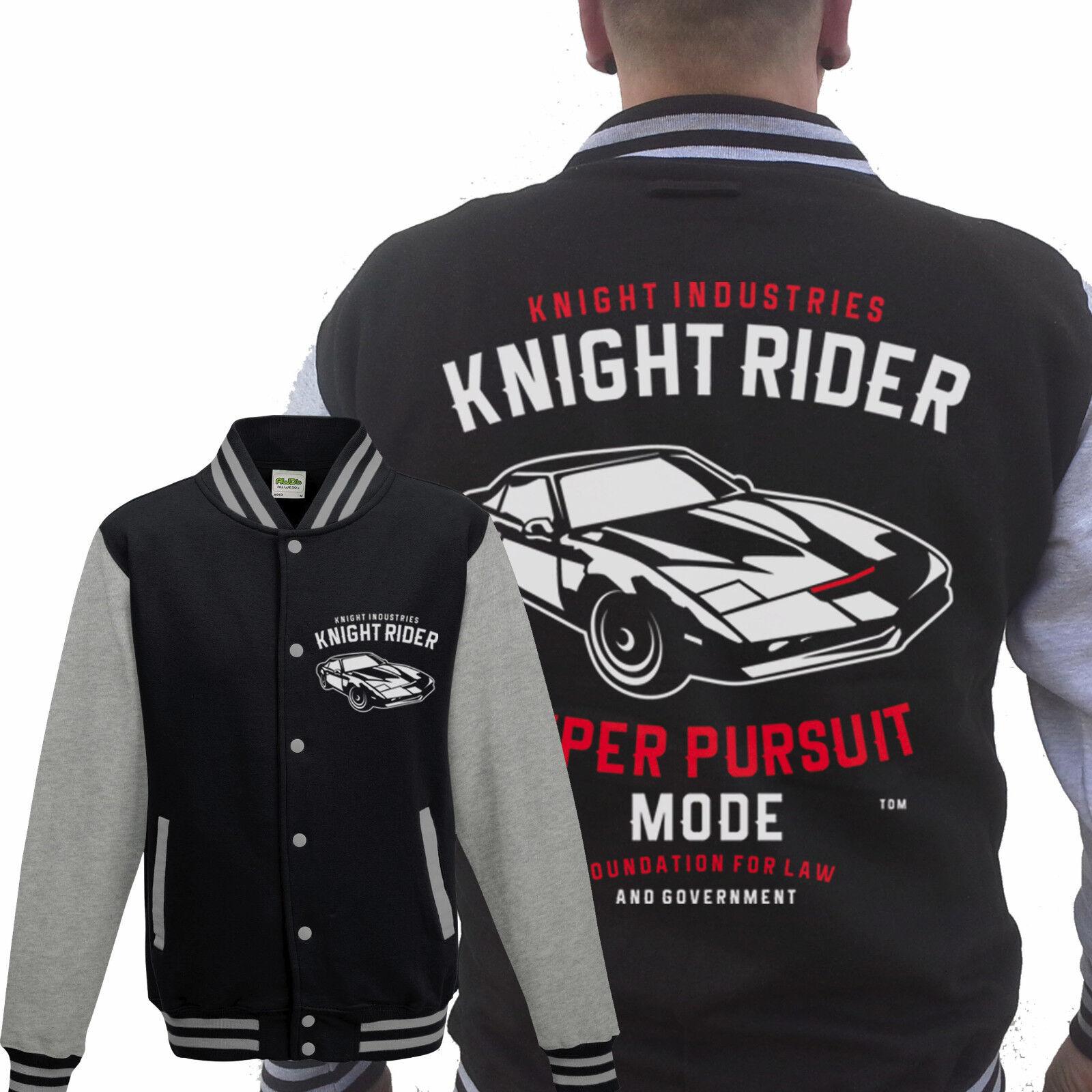 Knight Rider COLLEGE Giacca Grigio, Hasselhoff, Baywatch, 80er nuovo culto serigrafia Kitt
