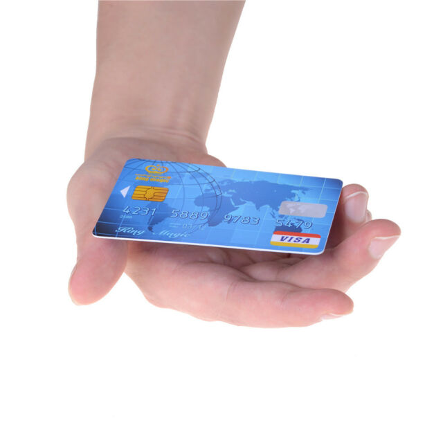 Amazing Floating Credit Card Close Up Magic Props Trick Magician Toy Stage vK