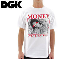 Dgk Dirty Ghetto Kids Money Over Everything T-shirt White 100% Authentic