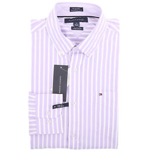 Tommy Hilfiger Men/'s Long Sleeve Button-Down Casual Polo Shirt $0 Free Ship