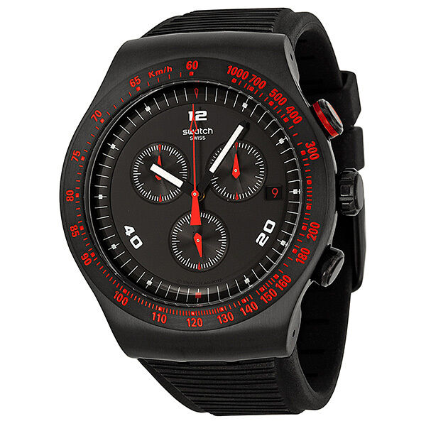 Swatch Irony Race Trophy Chronograph Silicone Mens Watch YOB401