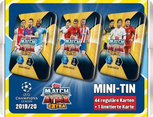 Topps match coronó extra Champions League 2019//2020-3 x mini Tin Limited editi