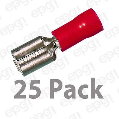 18-22 GAUGE 25 PACK NYLON FULLY INSULATED QUICK DISCONNECT FEMALE .187 TERMINAL