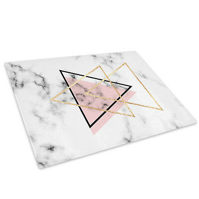 Pink Black White Marble Glass Chopping Board Kitchen