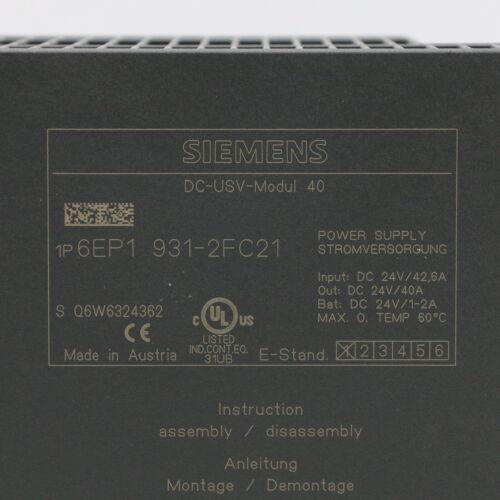 Siemens 6ep1 931-2fc21 DC-ups módulo 40 6ep1931-2fc21