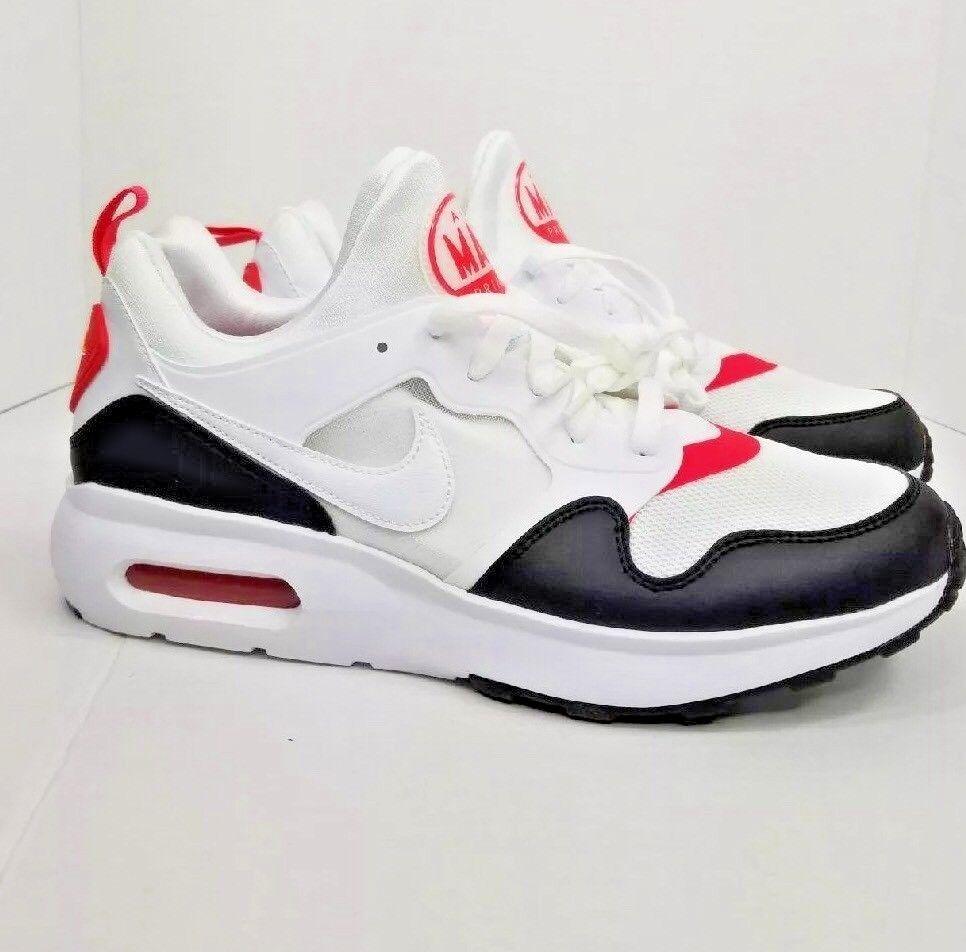 Men's Nike Air Max Prime 876068-102 Size 11 White  Siren Red Black