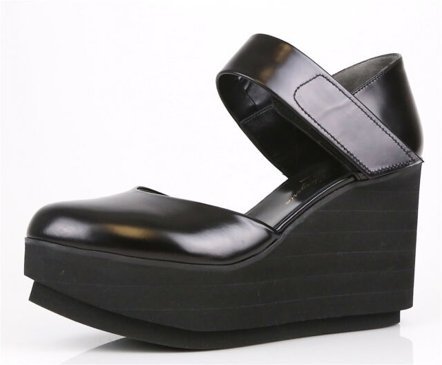 f4ea1169cf5 Frequently bought together. Robert Clergerie Black Chicago Platform Closed  Toe Wedge Sandals ...