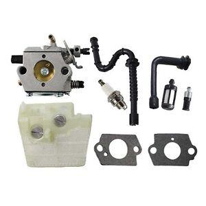 Carburetor For Walbro WT-194 Stihl 024 026 MS240 MS260 Carb w// Air Fuel Filter
