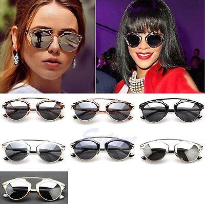 Retro Fashion Mirror Lenses Women Sunglasses Christian Designer Cat Eye Vintage
