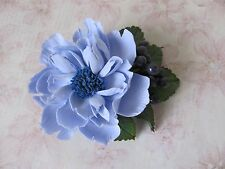 Flower Hair Clip HANDCRAFTED Fashion polymer clay blue floral Hair Clip HANDMADE