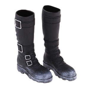 8a45dd5c275d6e 1 6 Male Black Long Boots Shoes for 12   Action Phicen Body Doll ...