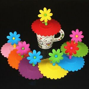New-Style-Colorful-Flower-Silicone-Dustproof-Cup-Lid-Leakproof-Cup-Cover