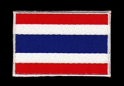 7,5 x 4,8 Aufnäher // Bügelbild Deutschland Flagge Fahne Land rot