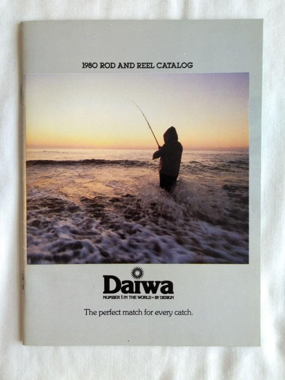 Vintage 1980 Daiwa Fishing Rods Reels Small Catalogue Sales Brochure Adgreenising