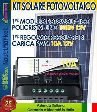SOLAR panel 12v 100W Poly + PWM charger 10A - Pannello solare 100w + regolatore