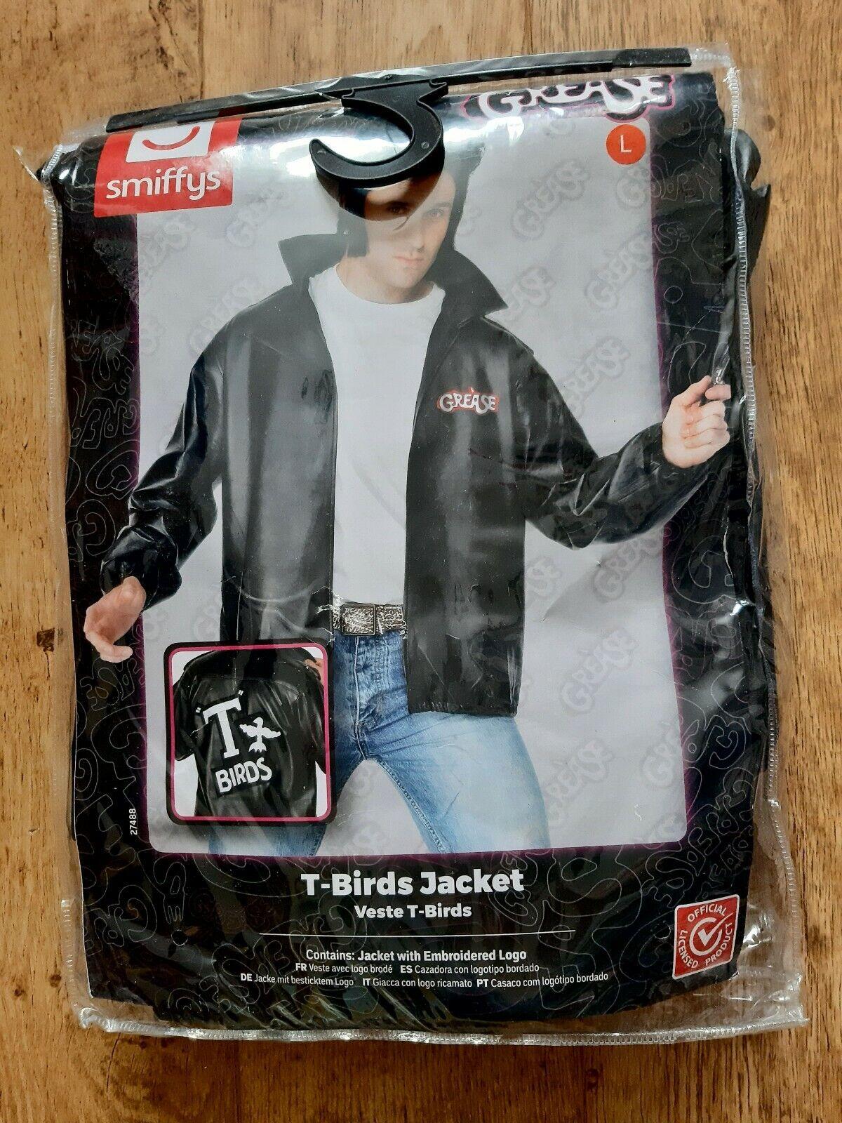 Men's 1970's Grease John Travolta T Bird Fancy Jacket Smiffys Size L Never Used