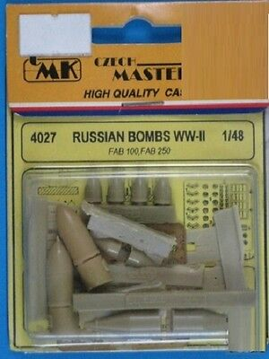 2019 Ultimo Disegno Cmk Czech Master's Kits 4027 - Russian Bombs Wwii - 1/48 Resin Kit