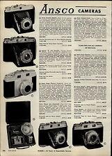 1957 PAPER AD 2 PG Ansco Camera Super Speddex Regent Folding Travel