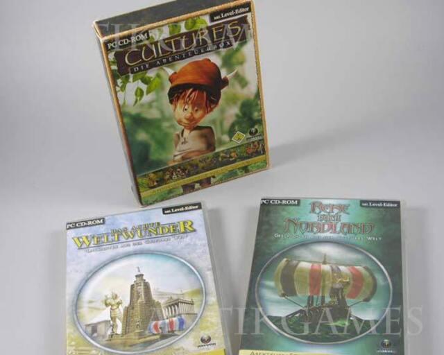 Cultures: Die Abenteuerbox (PC, 2003) inkl. Nordland und achtes Weltwunder