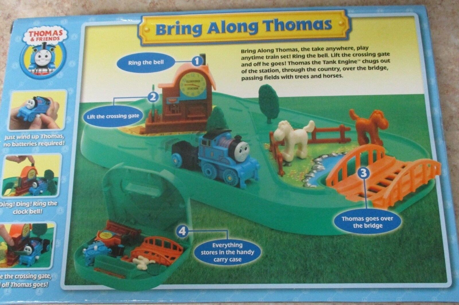 NEW In Orig. Box, Bring Along Thomas, Thomas & Friends Tank Engine Toy Vtg 2006