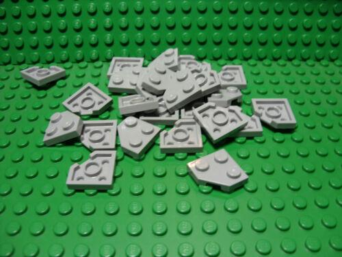 ** 25 CT LOT **  Lego NEW light bluish gray 2 x 2 cut corner plate pieces