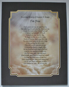 Image Is Loading I 039 M Free Personalized Bereavement Poem Gifts