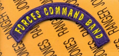 US Army FORCES COMMAND BAND FORSCOM tab arc patch